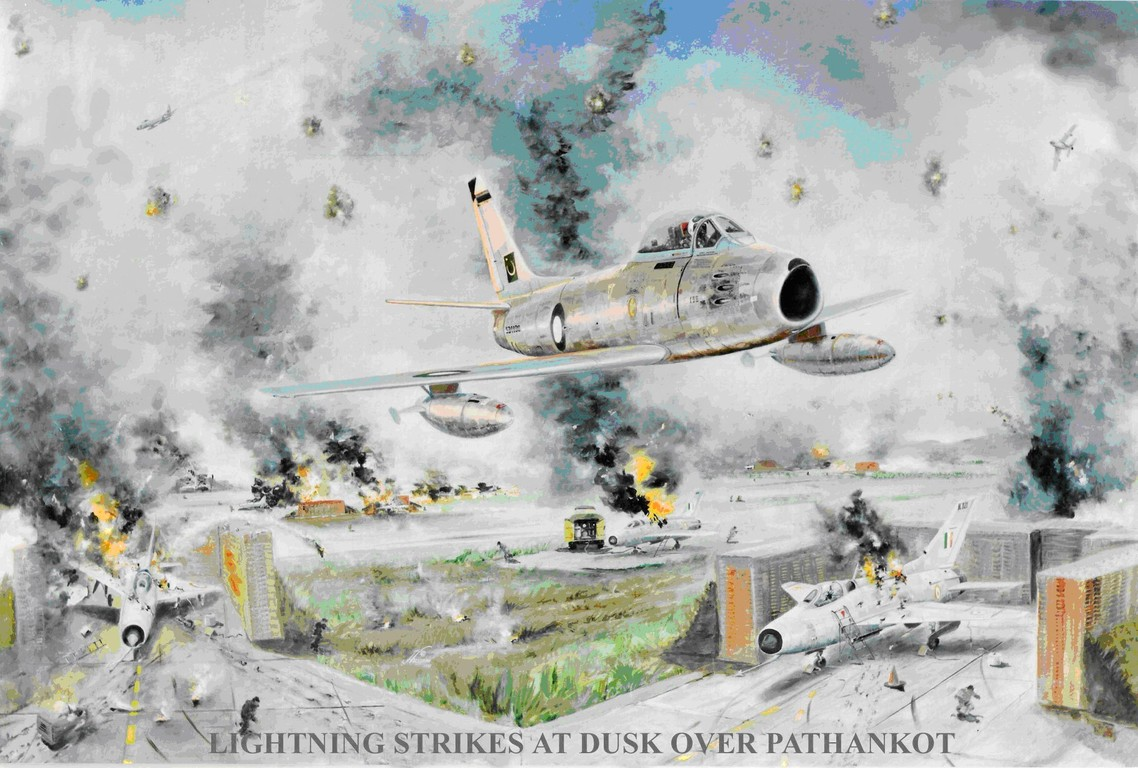 Depiction of Pathankot strike by Hussaini