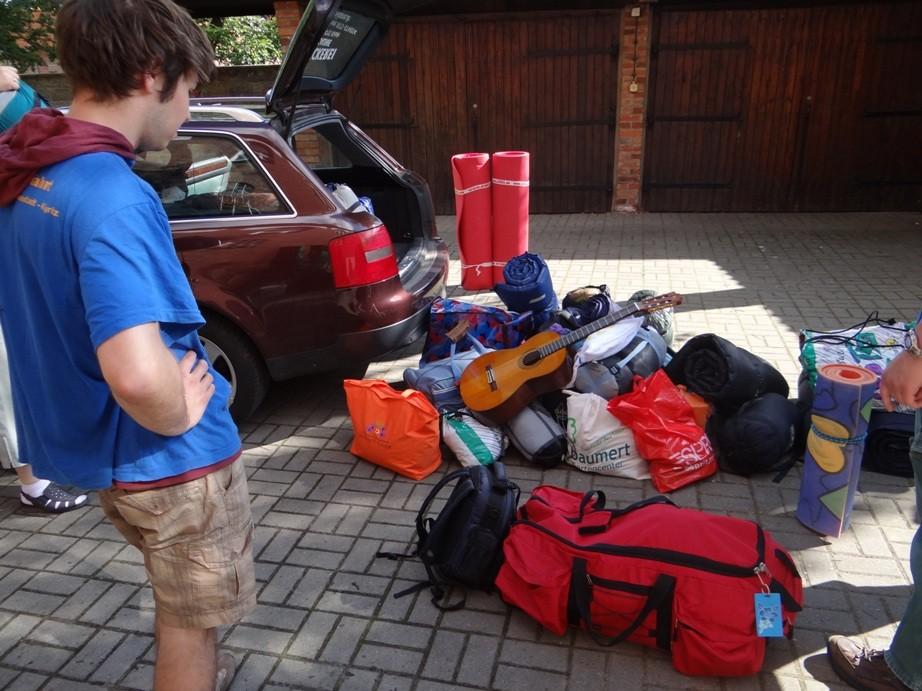 eine logistische Herausforderung - der Gepäcktransport