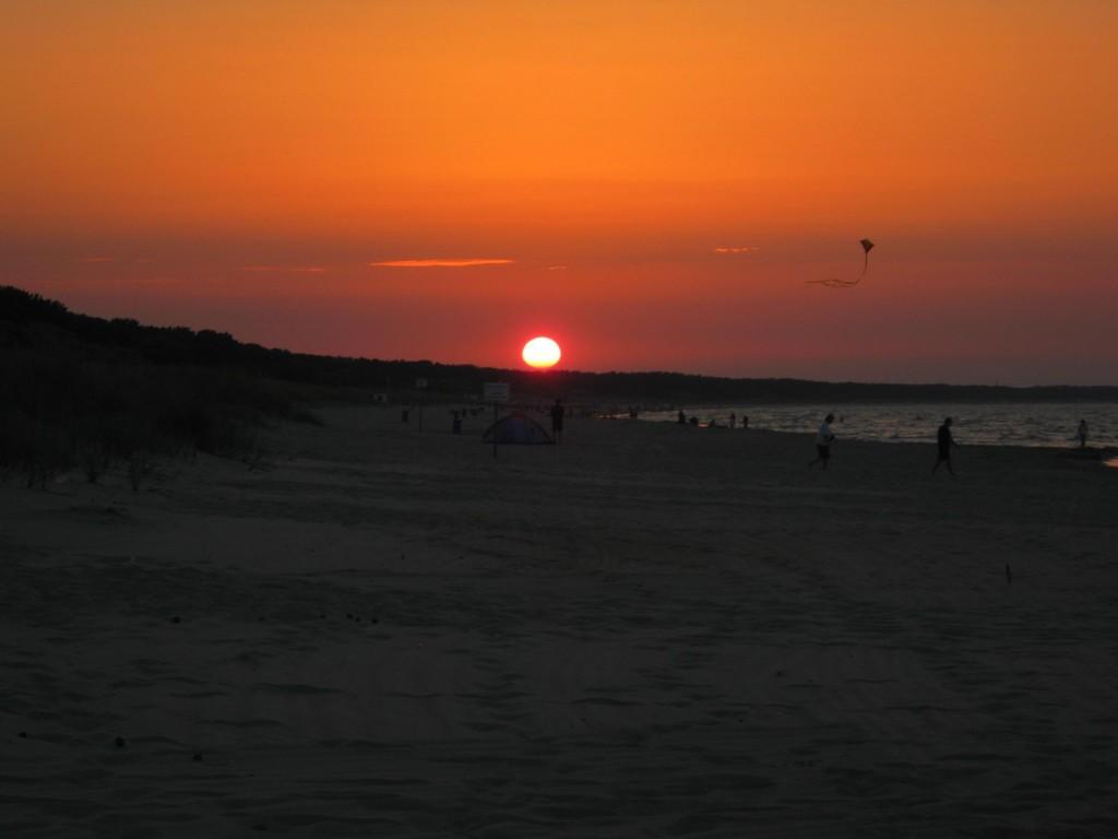 Sonnenuntergänge am Strand
