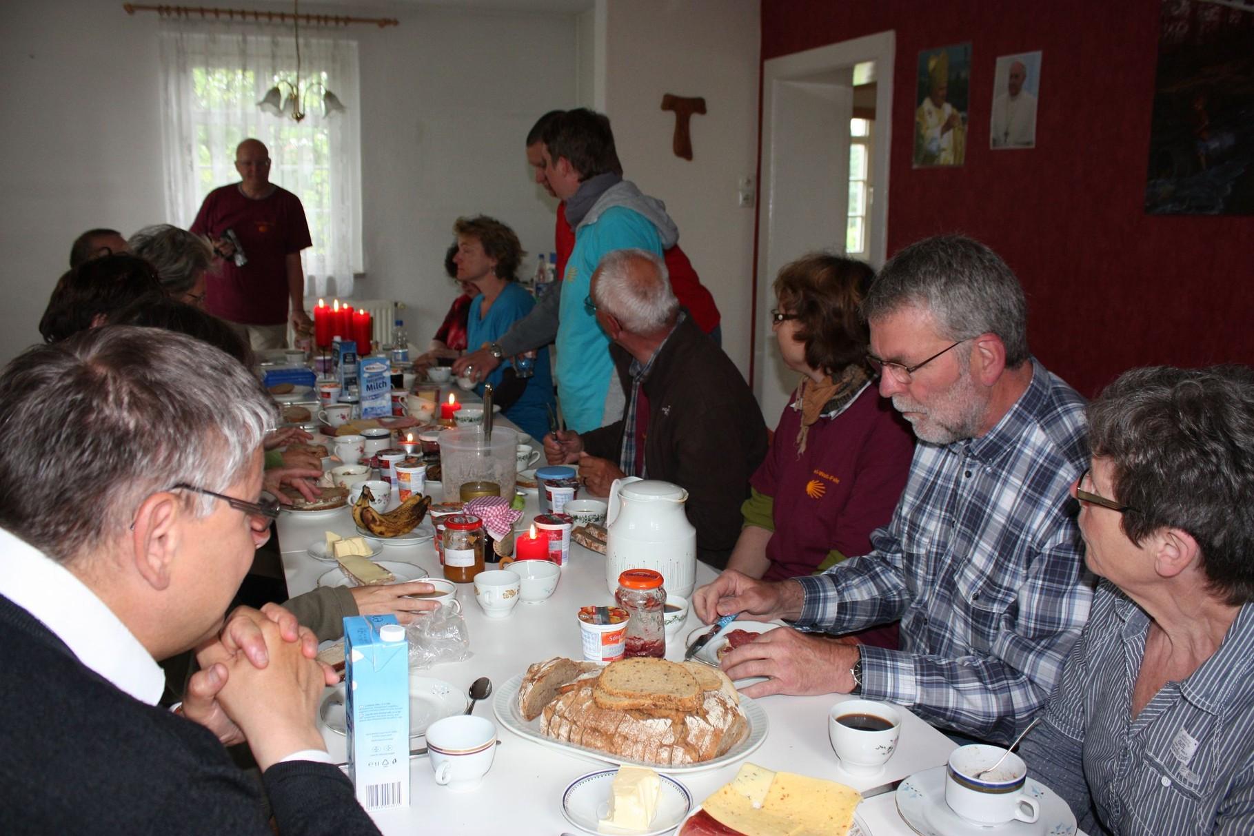 Frühstück in Friesack