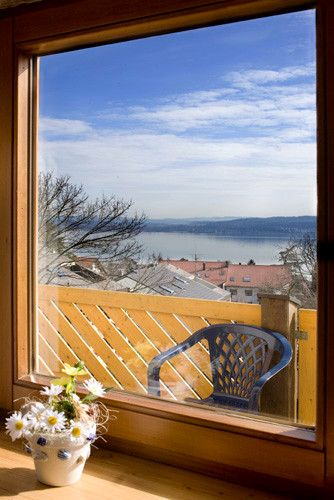 Bodensee Ferienwohnung Riehle Litzelstetten mit Balkon und Seesicht