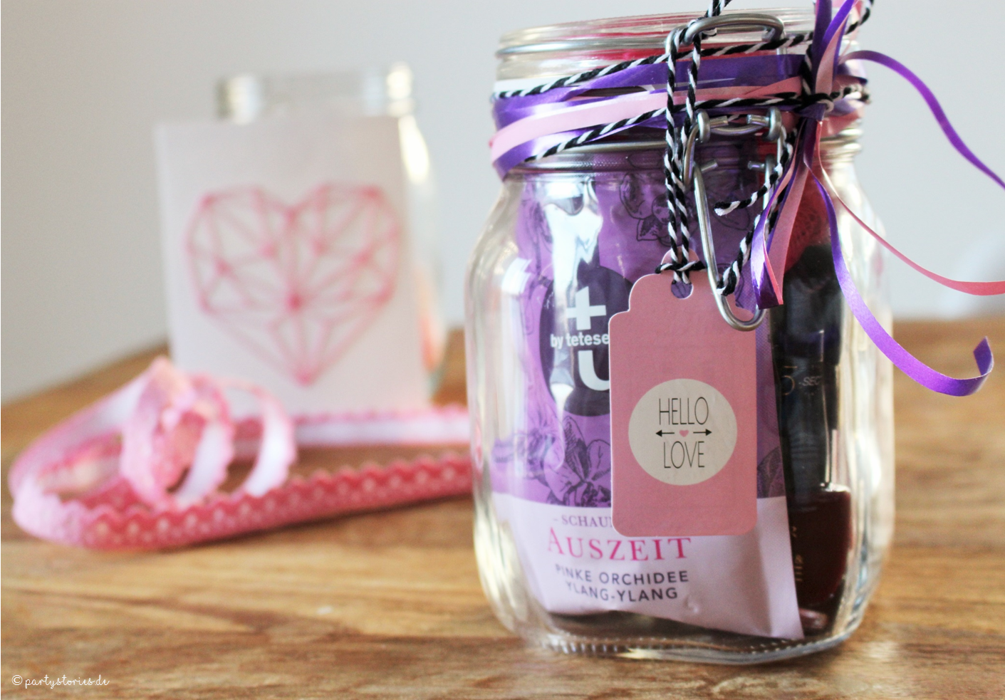Super DIY Geschenkidee: Wellness im Glas - Partystories Blog AN82