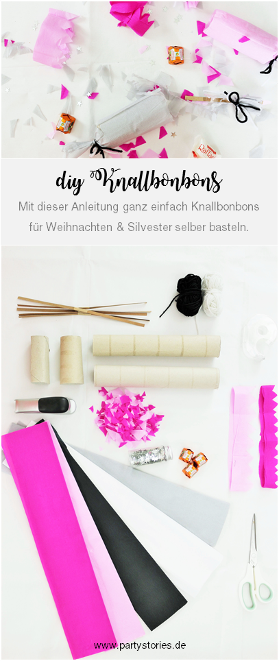 diy knallbonbons einfach selber basteln perfekt als partydeko oder geschenkverpackung. Black Bedroom Furniture Sets. Home Design Ideas