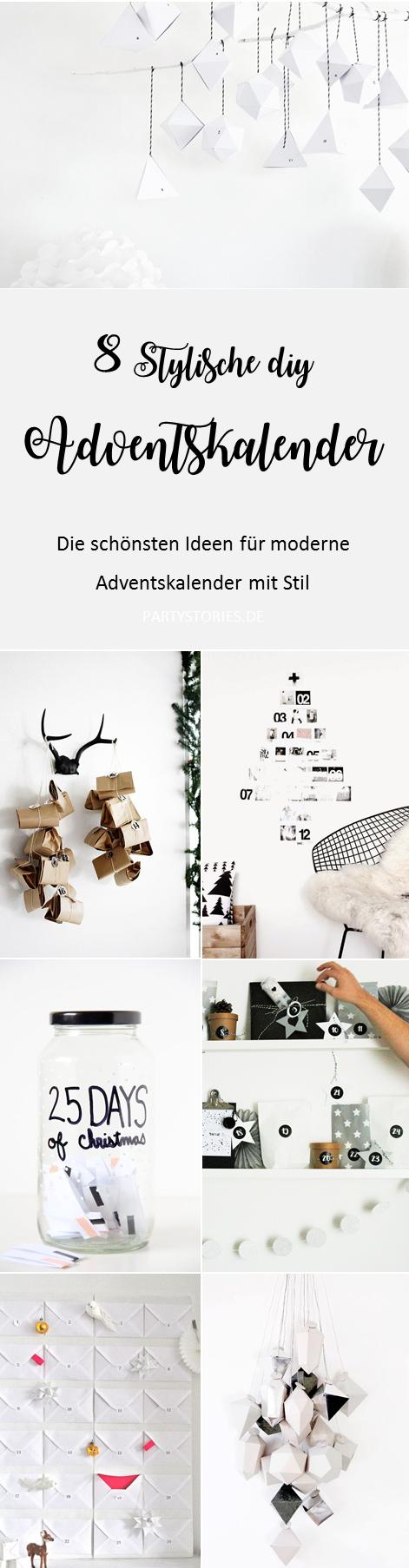 Bild: DIY Adventskalender -moderne und stylische Adventskalender Ideen von Pinterest zum selber basteln; gefunden auf www.partystories.de