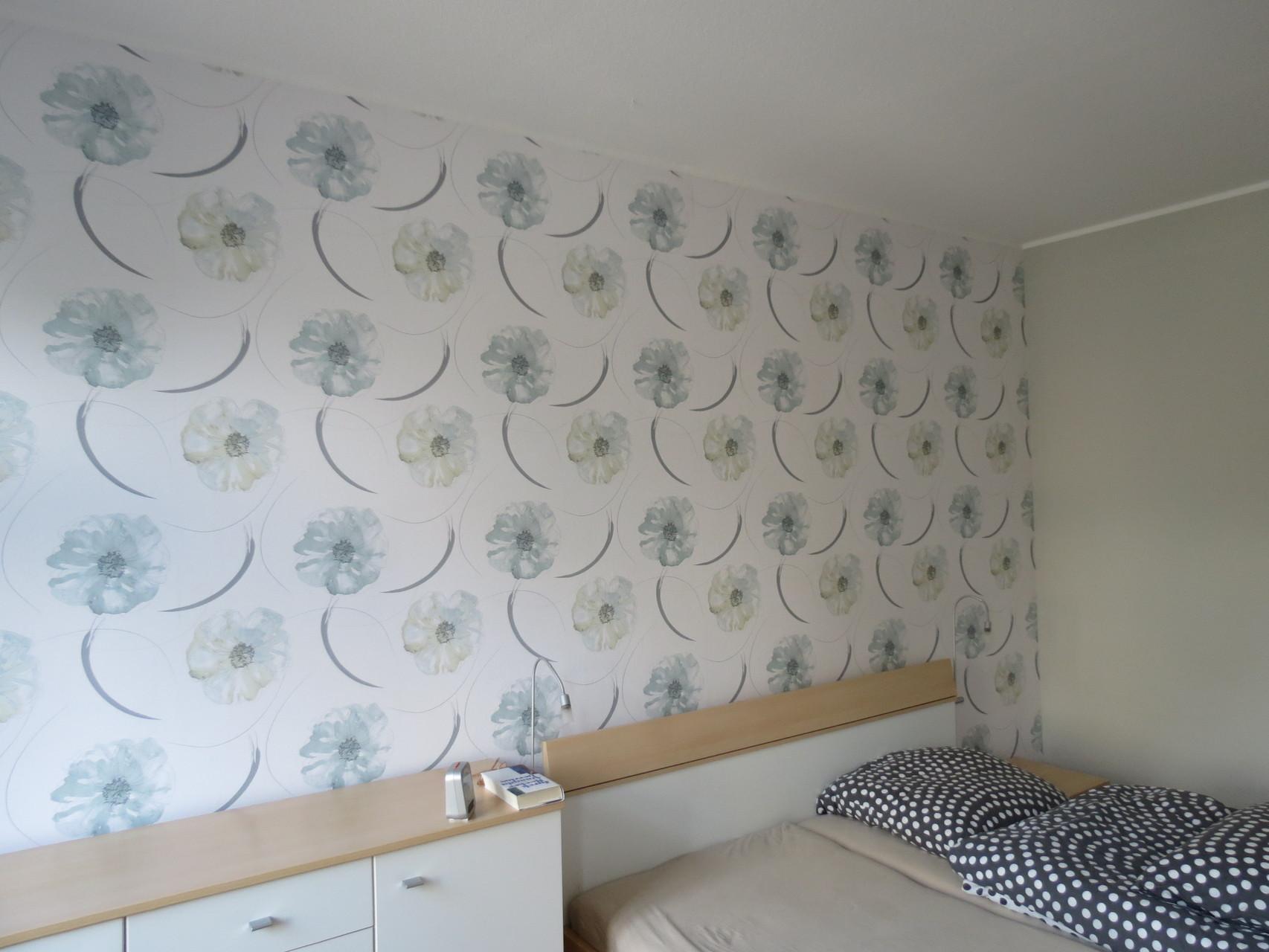 Tapezierung Schlafzimmer