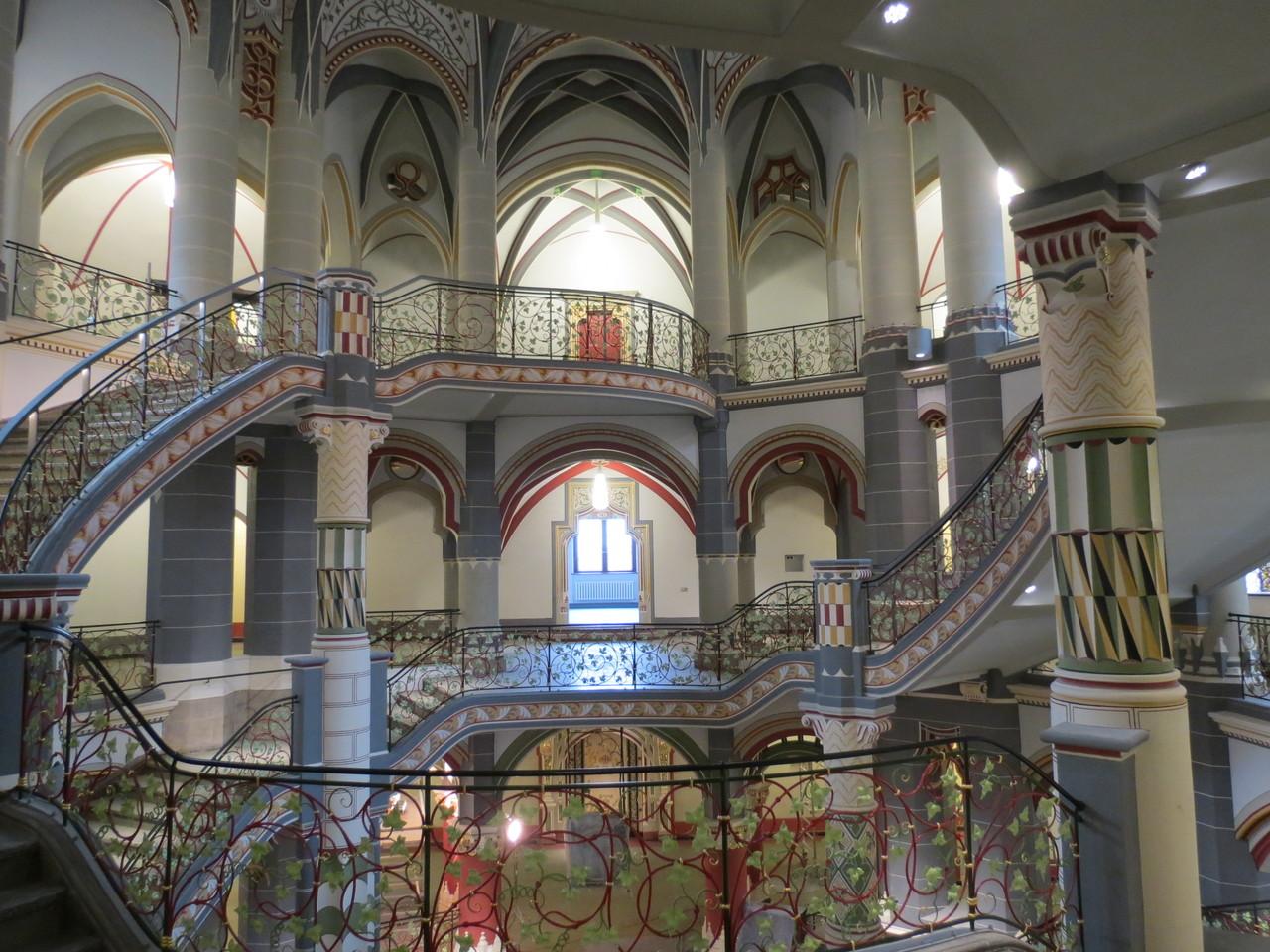 Landgericht Halle Treppengeländer Rekonstruktion Originalfassung