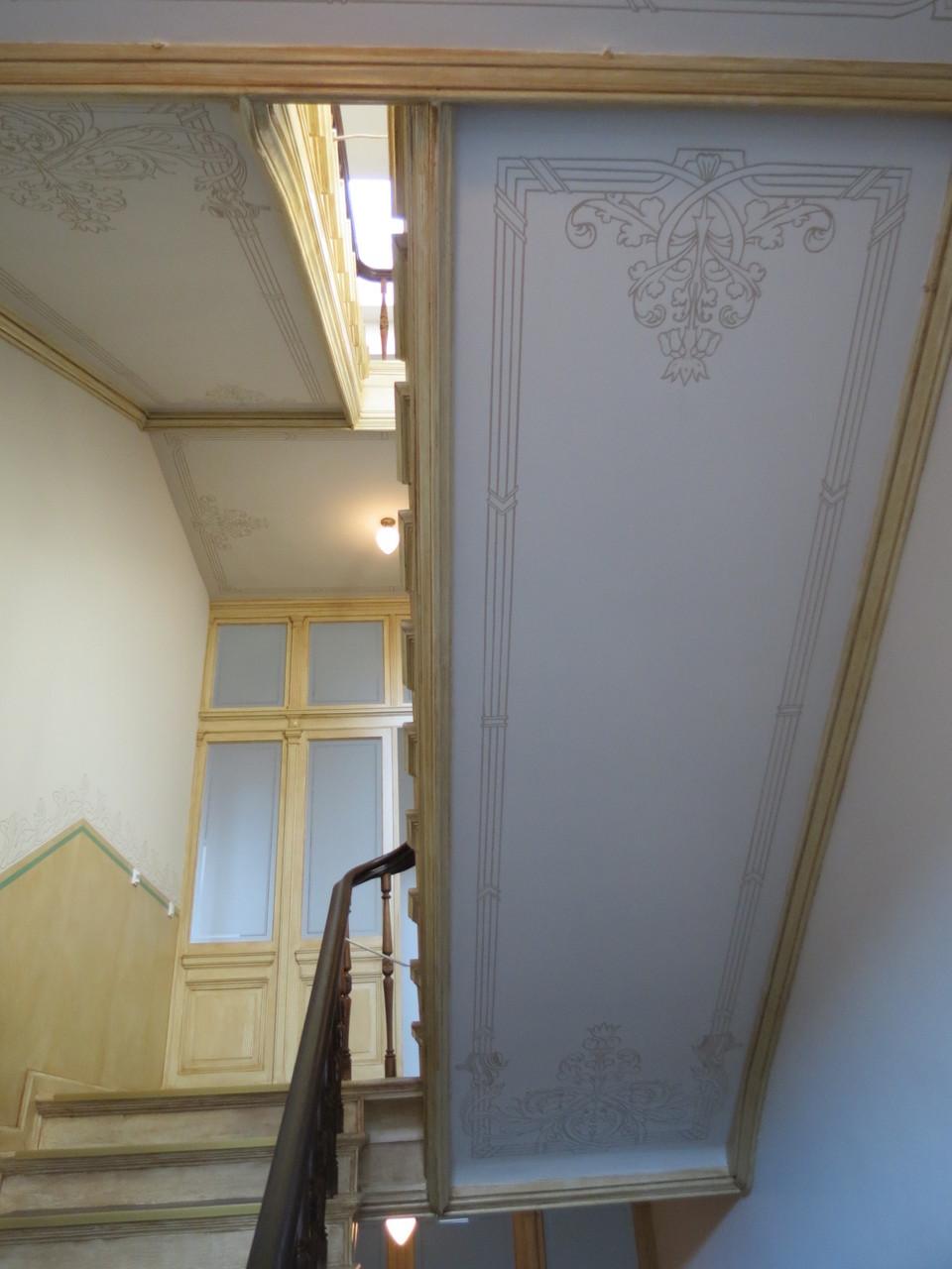 Treppenhaus Halle Rekonstruktion Deckenmalerei