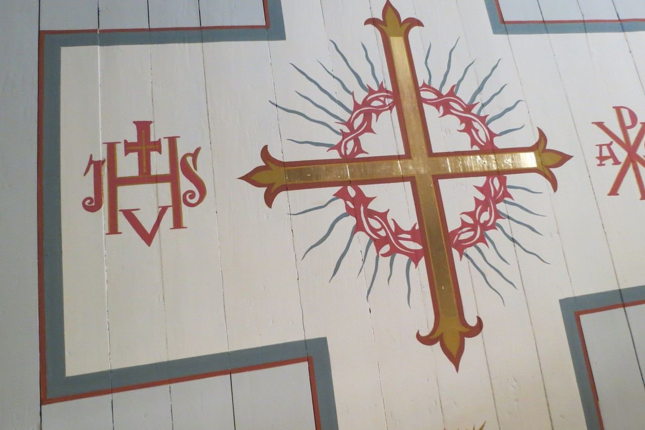 St. Michaelkirche Brachstedt Befunduntersuchung und Rekonstruktion historistische Deckenmalerei