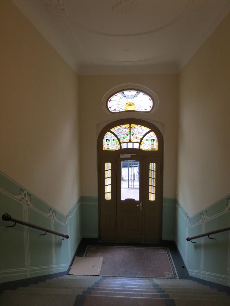 Treppenhaus Schleiermacherstr. Halle Rekonstruktion Wandmalerei
