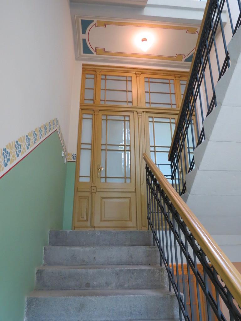 Treppenhaus Halle Rekonstruktion Malereien