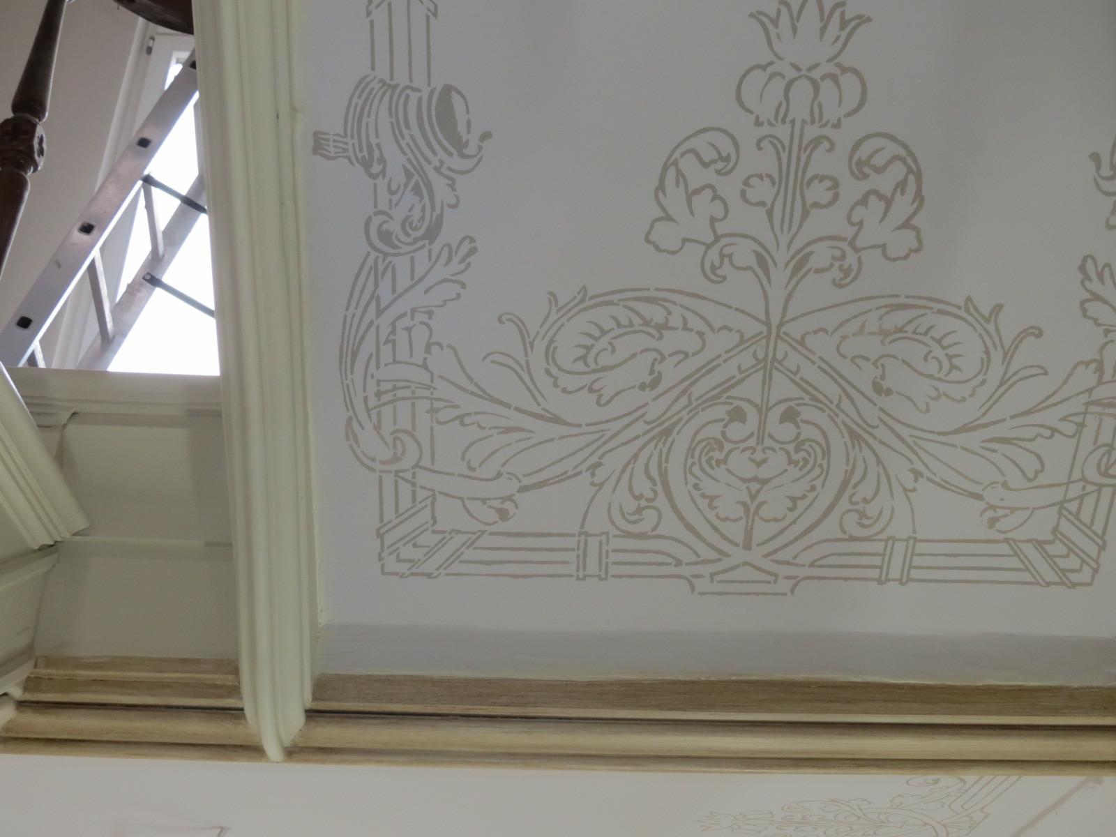 Treppenhaus Halle Deckenmalerei Detail