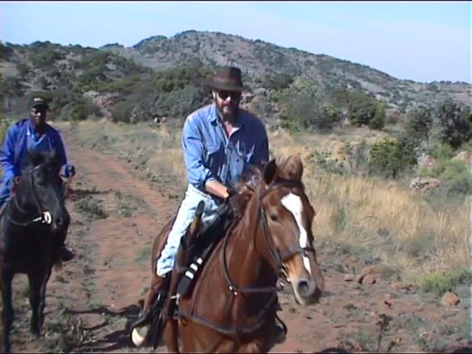 a cavallo nel bush