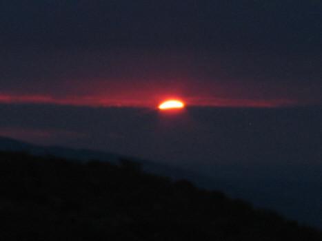 tramonto prima delle piogge