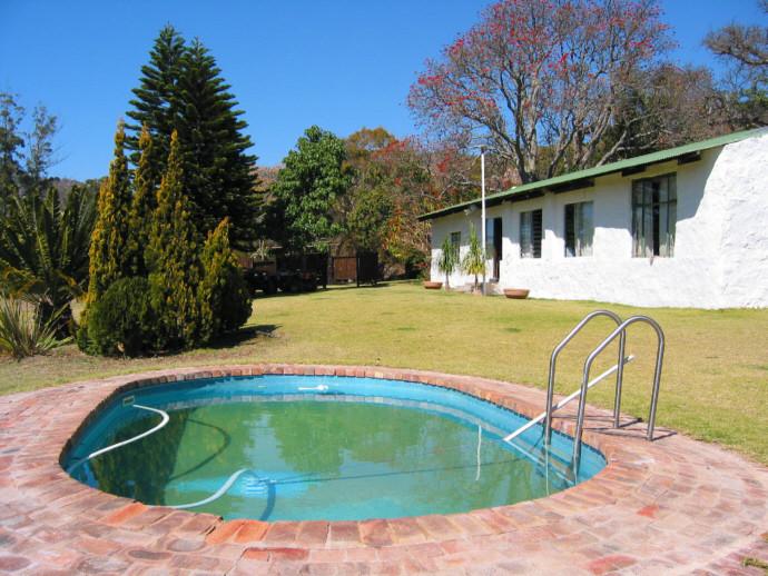 la vecchia casa , originariamente una stazione della diligenza che portava in Rhodesia