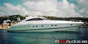 Embarcación Princess V65 charter en Ibiza