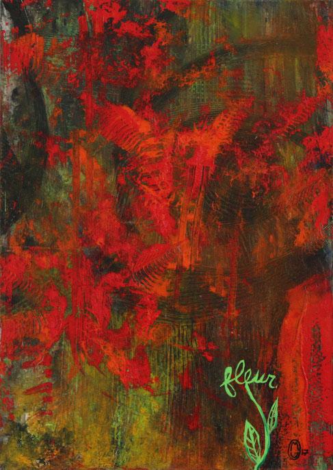 """""""Renaissance""""-acrylique sur toile-50*70-2017-300€-location/mois:10€"""