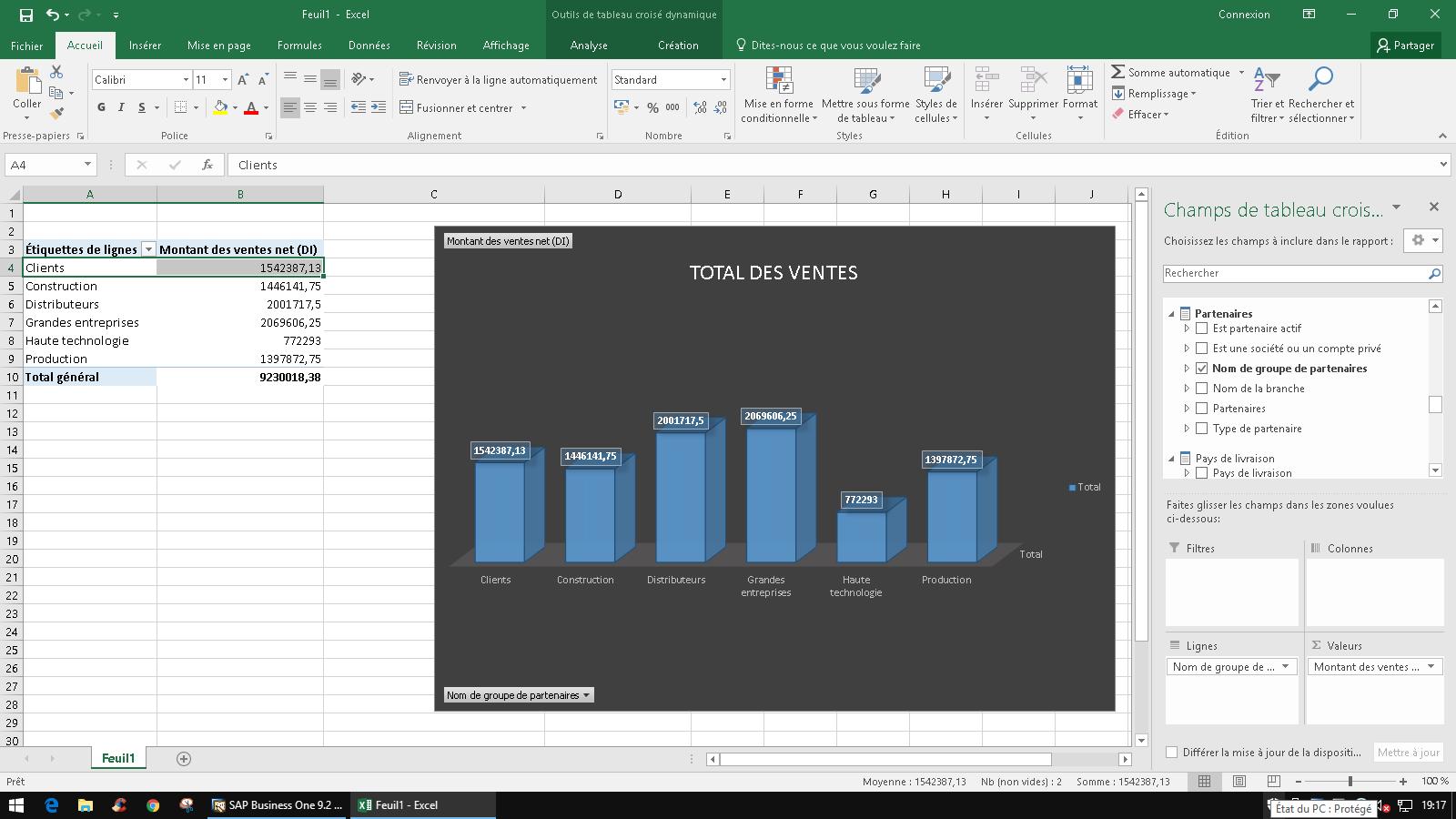 Analyse interactive Excel | cliquez pour agrandir