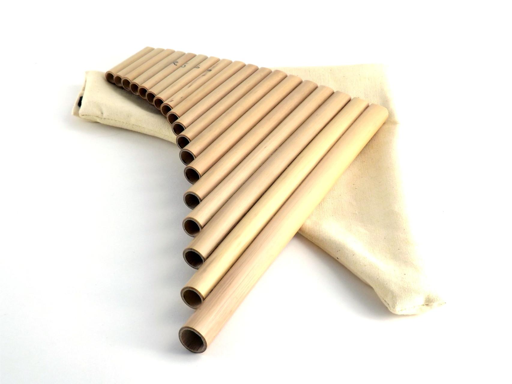 Flûte de pan professionnelle avec housse à partir de 38 €