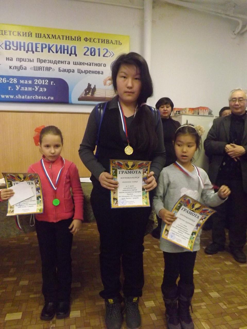 Семенова Марина, Убодоева Дарья, Мункуева Катя (3 разряды)