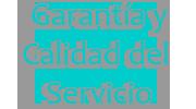 garantía y calidad del servicio