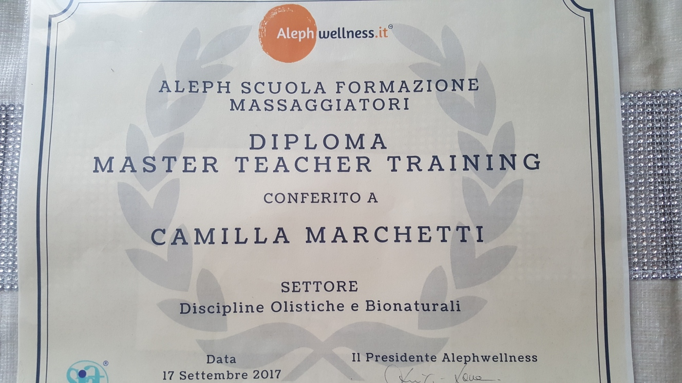 Master Teacher in Discipline Olistiche e BioNaturali