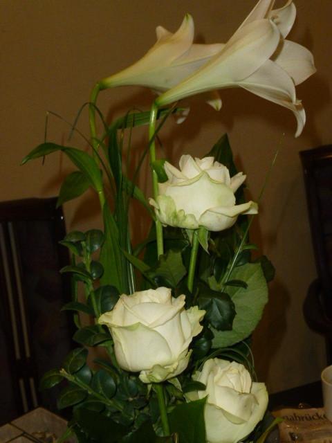 Hier auf dem Foto sind die Blumen schon fast eine Woche alt.
