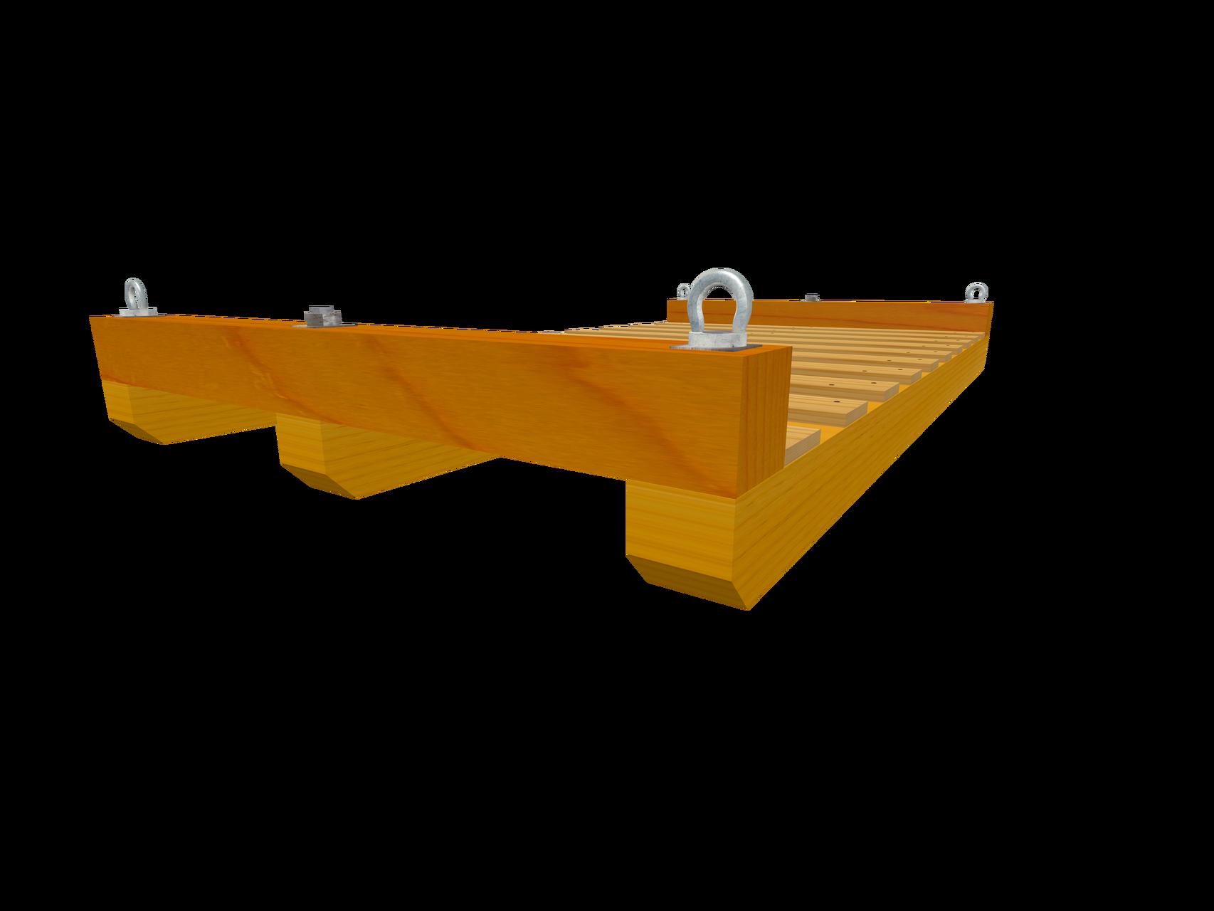 Skid C3 Transportboden m. angeschräge Längskufen (Wahlweise mit Ringmuttern)