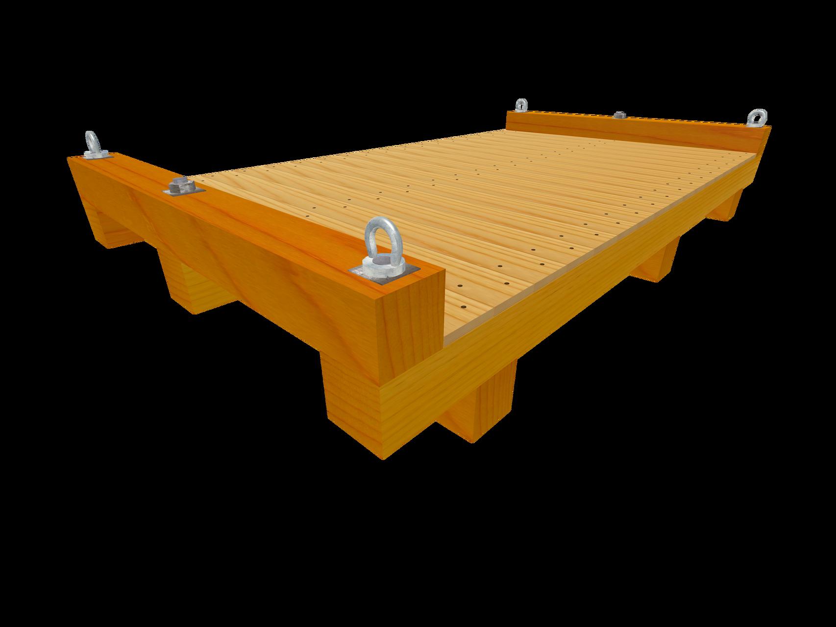 Skid C1 Transportboden mit Querkufen (Wahlweise mit Ringmuttern)