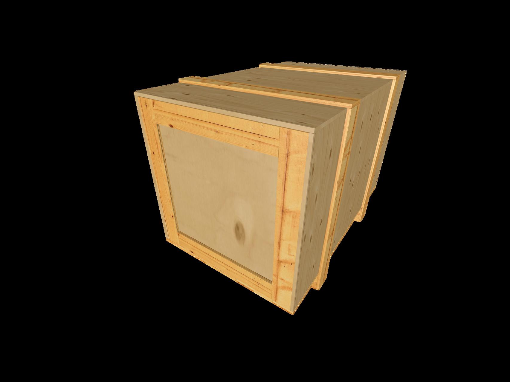 A4 Sperrholz-Kopfkranzkiste mit Kopf-, Seiten- u. Deckelbeleistung