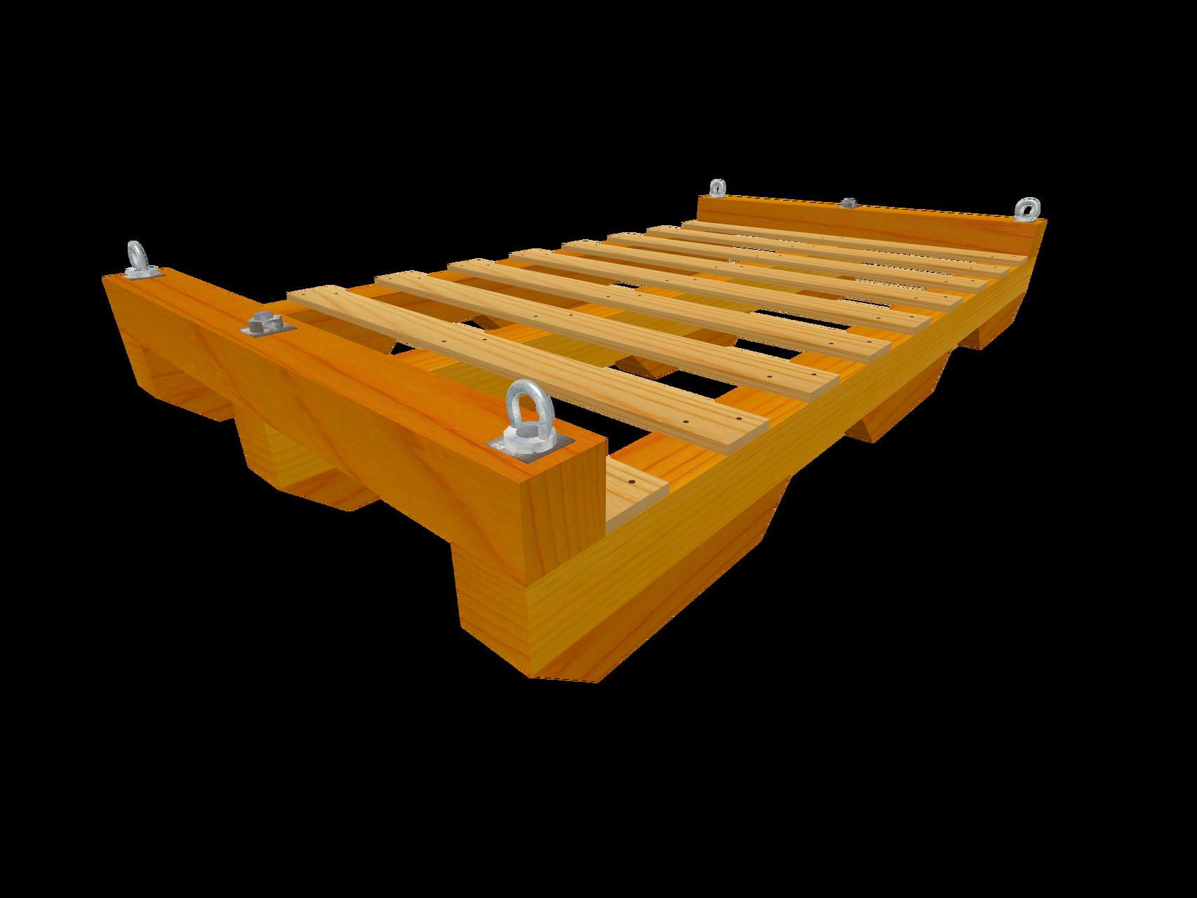 Skid C2 Transportboden mit Gleitkufen (Wahlweise mit Ringmuttern)