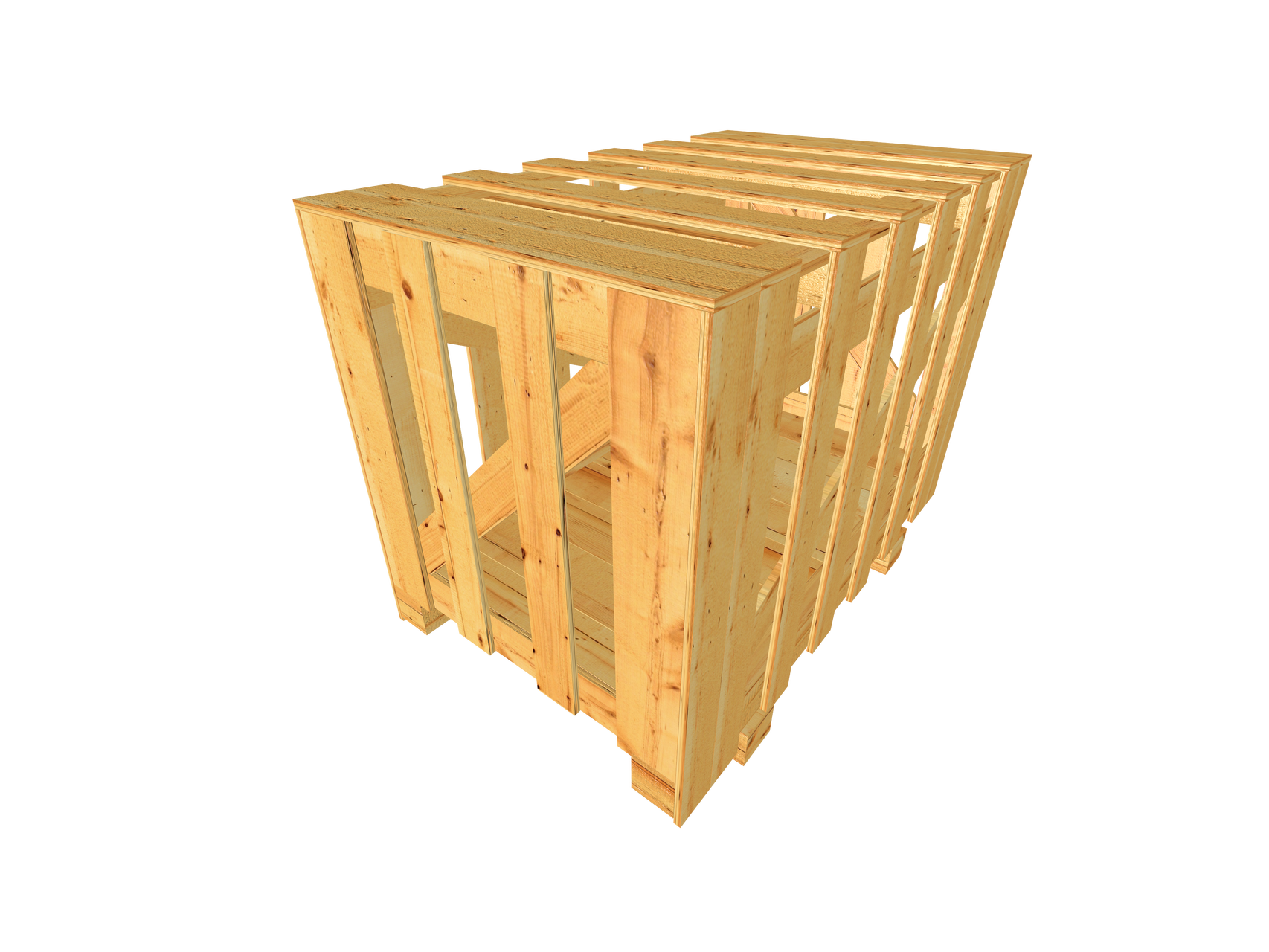 B2 Schwergutkiste mit Vertikalverbretterung als Verschlag