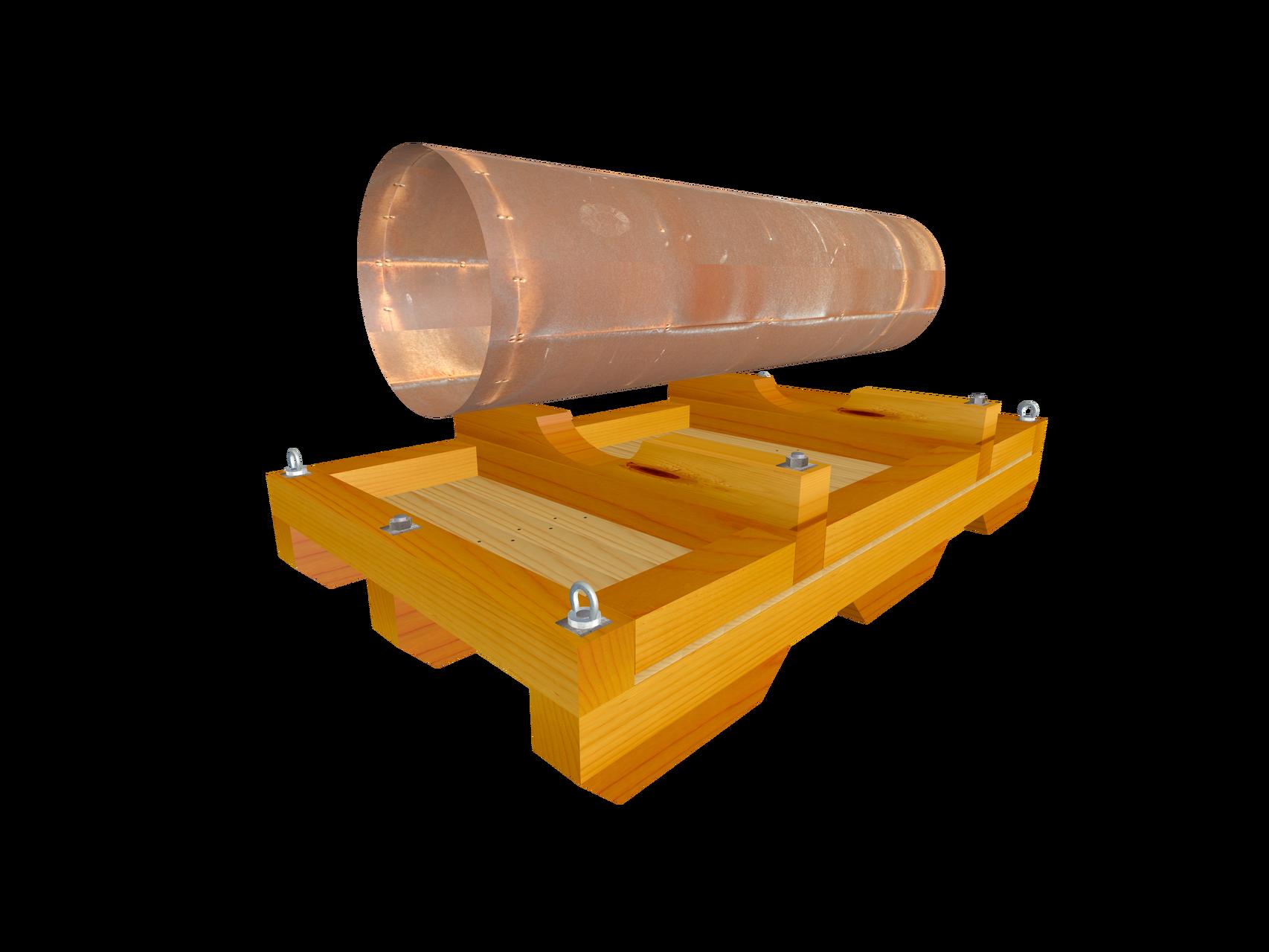 Verpackungskonstruktion auf Skid C2