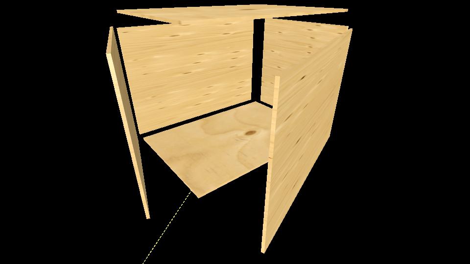 A1 Sperholzkiste ohne Beleistung