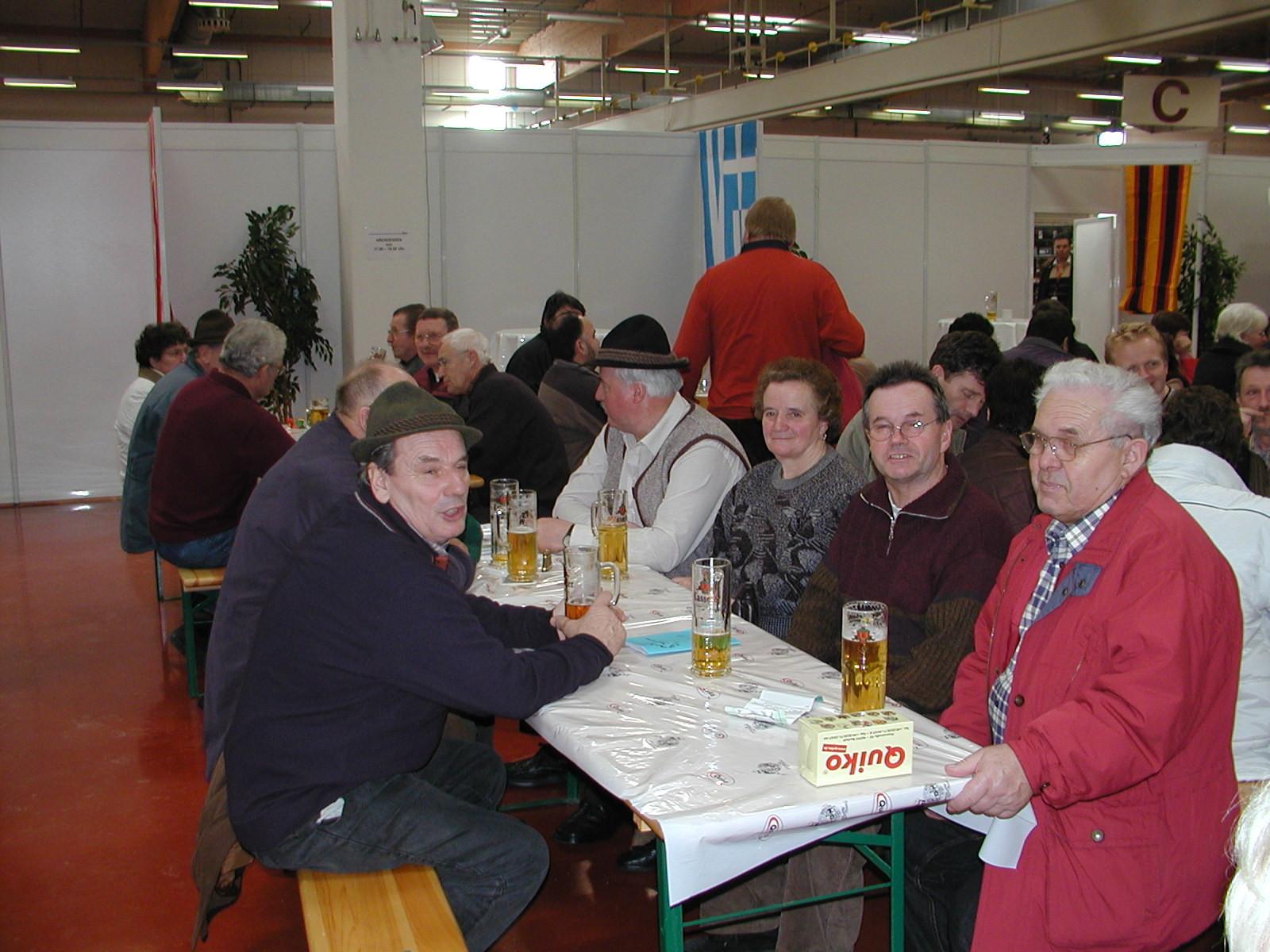 WM 2005 gemeinsame Brotzeit