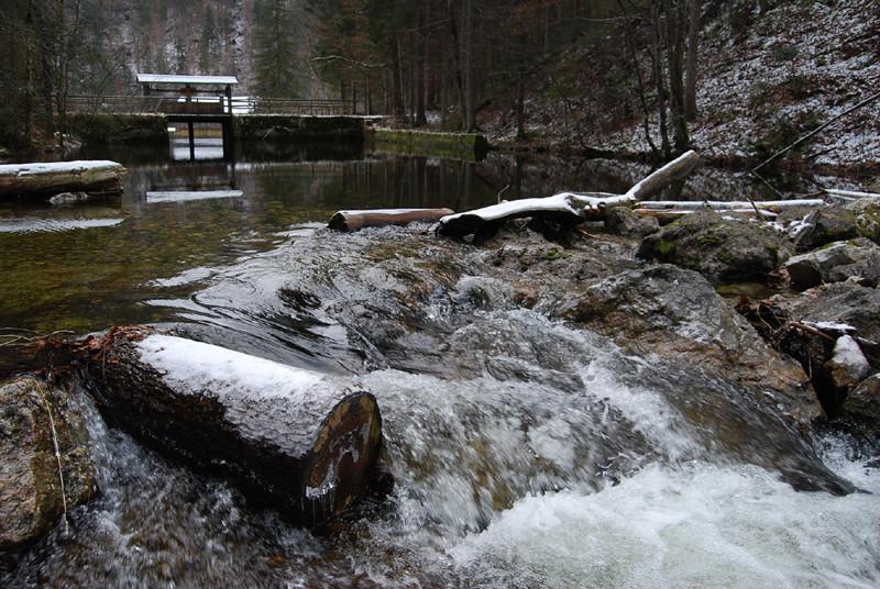 Beginn des Toplitzbaches (im Hintergrund die Klause zur Holztrift)