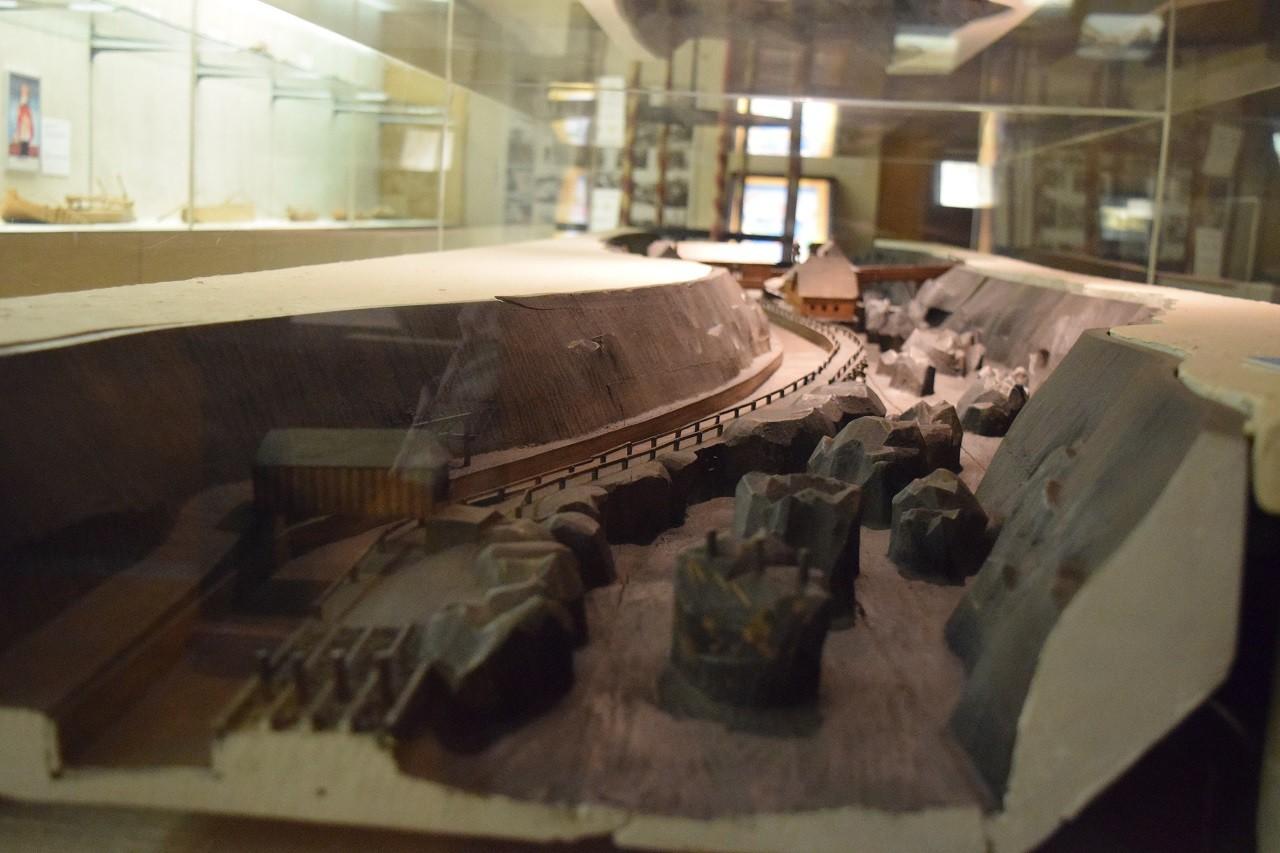 """Modell vom """"Fahrbaren Fall"""" - Schiffahrtsmuseum Grein"""
