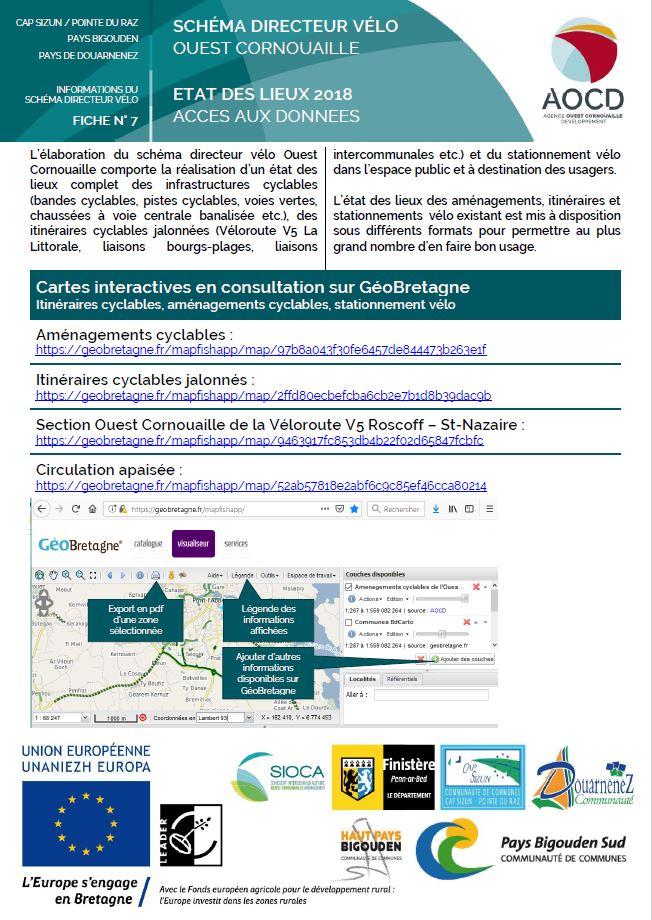 Fiche n°7 - Accès aux données concernant l'état des lieux des infrastructures cyclables