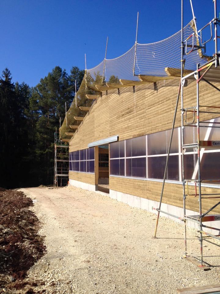 Bau der neuen Reithalle