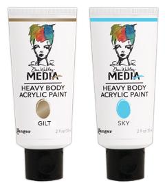 Uk Stockist Dina Wakley Heavy Body Acrylic Paint