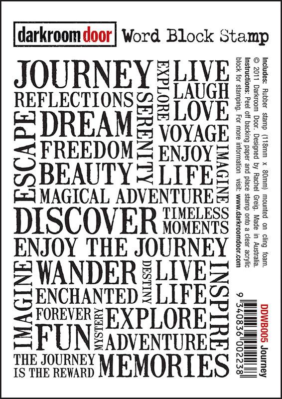 Beautiful Darkroom Door Unmounted Word Block Stamp: Journey