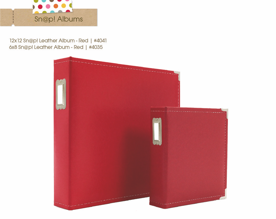 Leather Binder 6x8 Simple Stories Sn@p Red