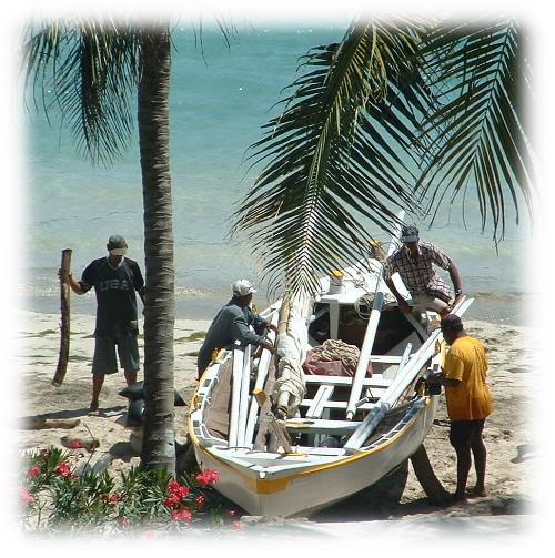 Baleinière à Bequia Petites Antilles.