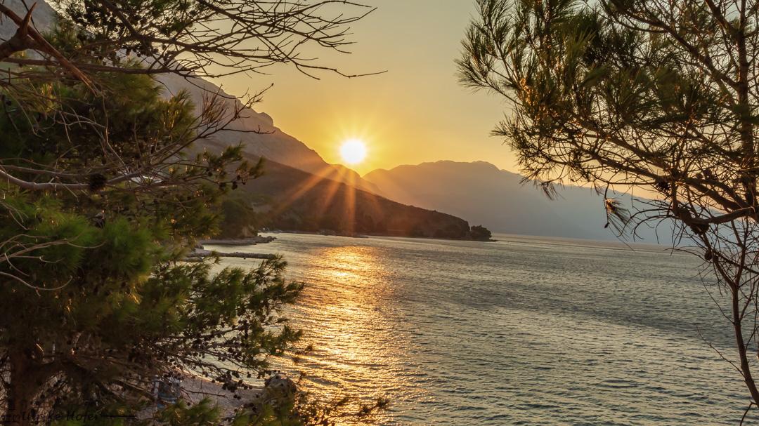 Sonnenaufang über Makarska