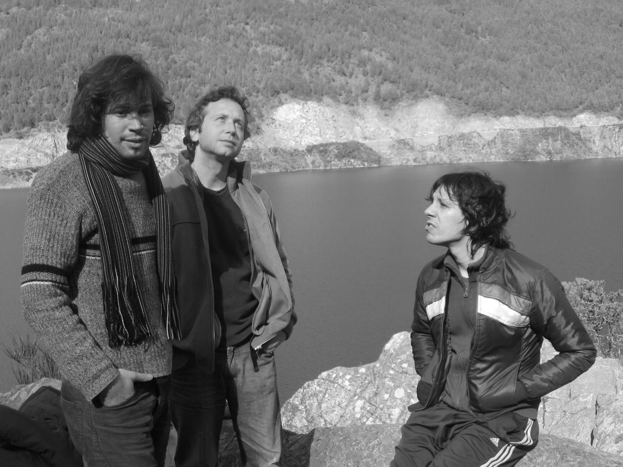 Abel Calzetta en gira (con Javier Martinez y Esteban Tereschuk)