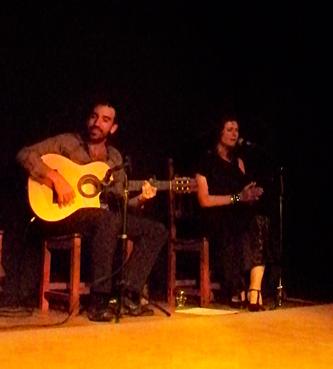Rodrigo Gonzalez: músico, guitarrista flamenco y Montse Ruano: cantaora flamenca