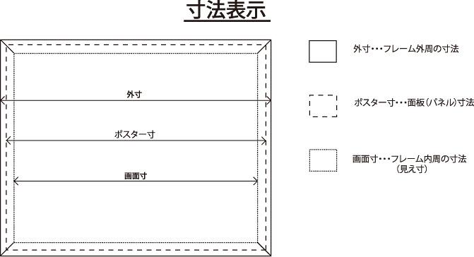 マリヤ画材/取扱商品/フレーム/寸法
