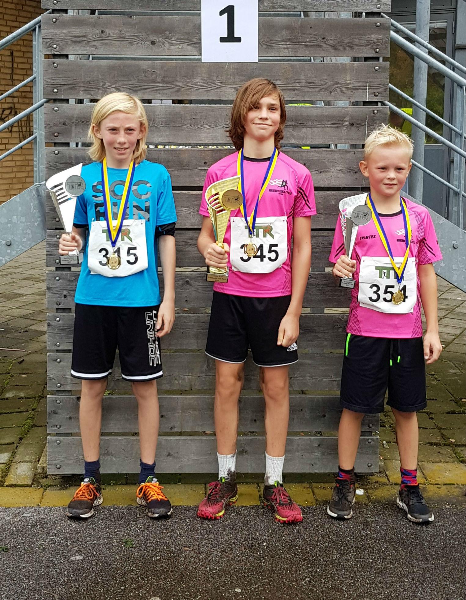 5km Pojkar: 1:a Lukas Jakobsson, 2:a Gustav Wennergern, 3:a Joel Stjärnvy