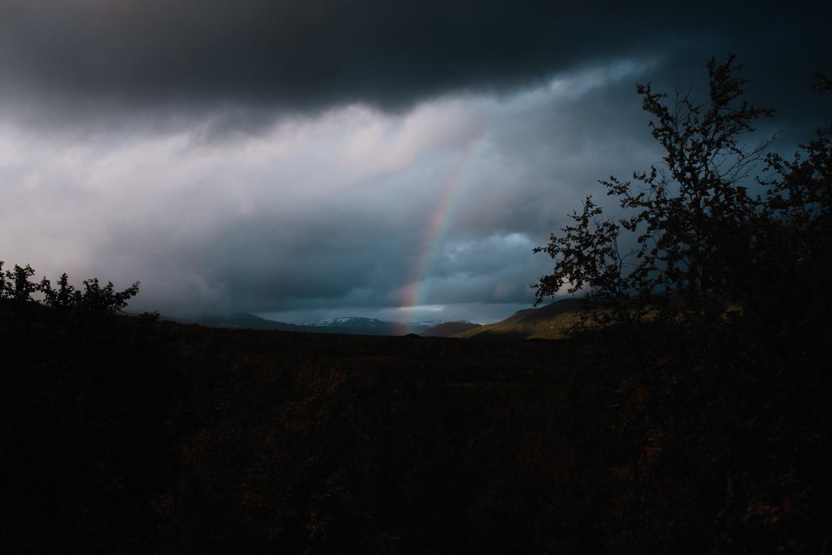 Solch wunderschönen Regenbogen sehen wir häufiger