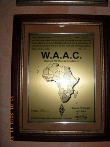 Worked all african continent W.A.A.C.