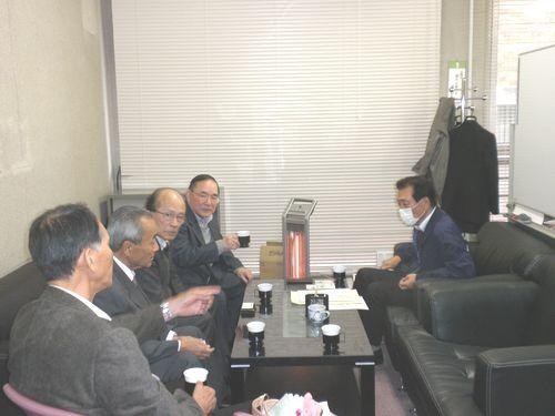 連合山口 県央地域協議会 訪問 古都事務局長へご挨拶
